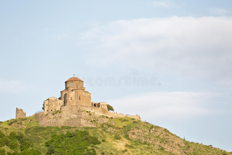 Монастырь Jvari, монастырь шестого века грузинский правоверный стоковое изображение