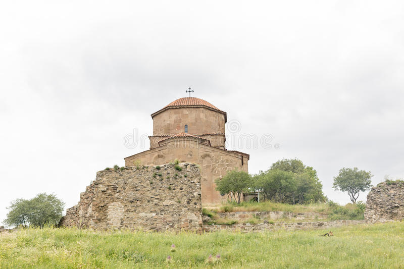Монастырь Jvari, монастырь шестого века грузинский правоверный стоковые фото