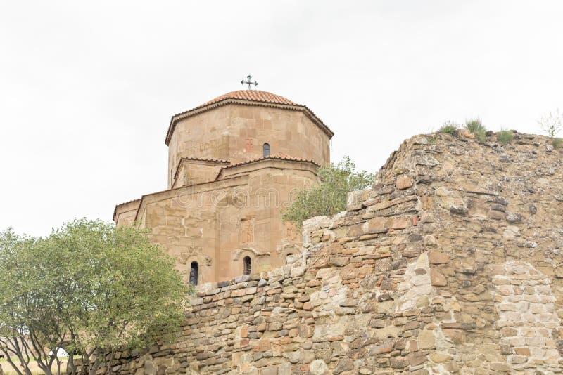 Монастырь Jvari, монастырь шестого века грузинский правоверный стоковое фото