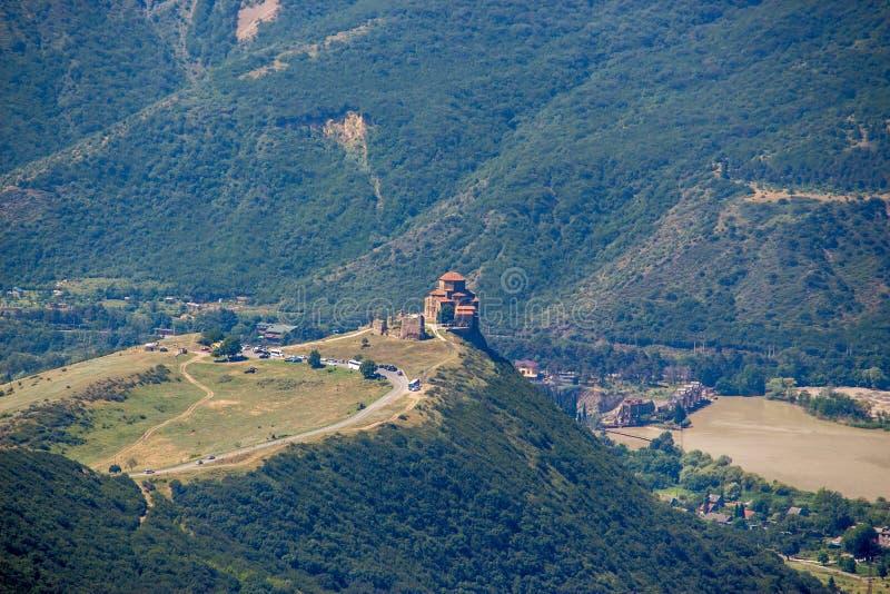 Монастырь Jvari (от максимума) шестой век грузинское Orthodo стоковое фото