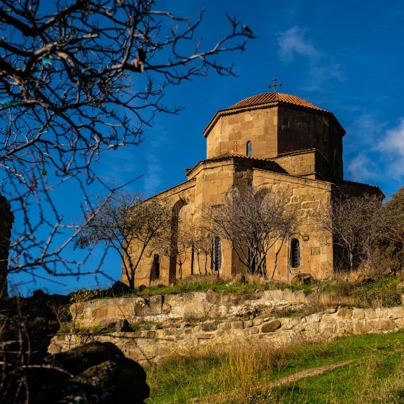 Монастырь Jvari монастырь n шестого века грузинский правоверный стоковое изображение