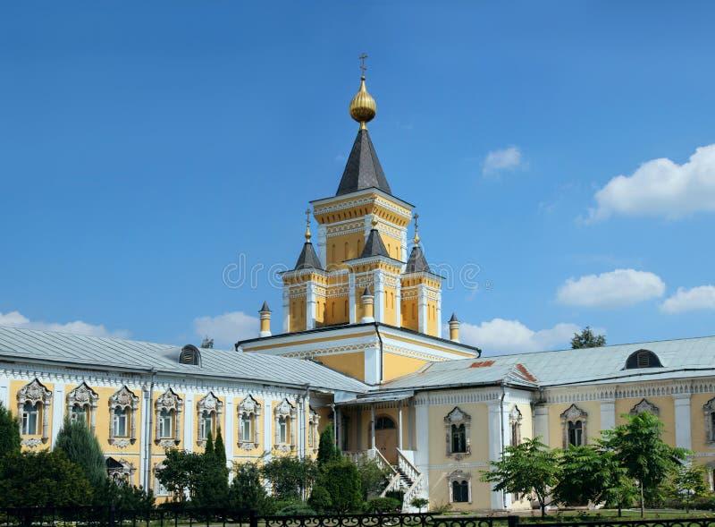 Монастырь Nikolo-Ugreshsky в Dzerzhinky зима России зоны открытки kremlin moscow dmitrov собора предположения стоковое изображение