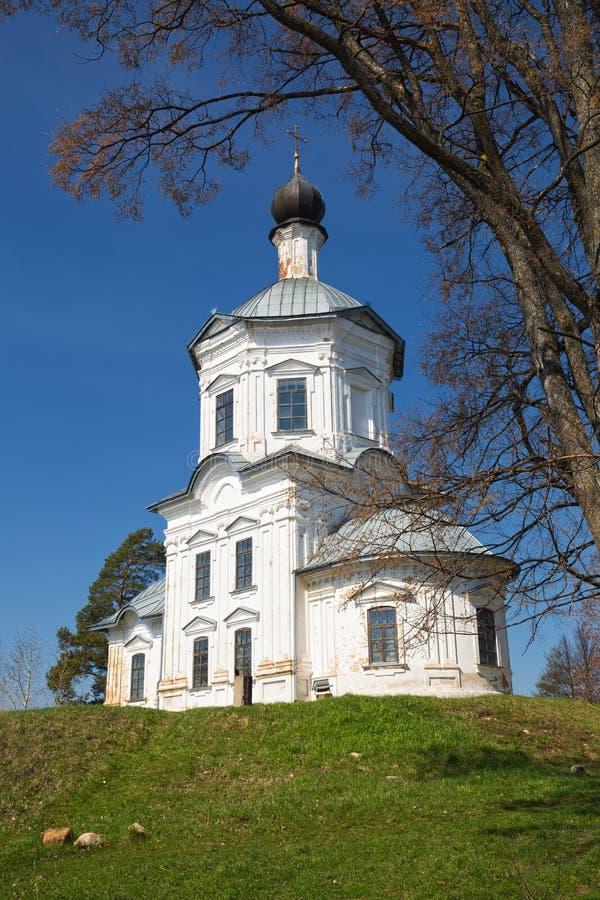 Монастырь Nilo-Stolobensky, белая церковь стоковое изображение rf