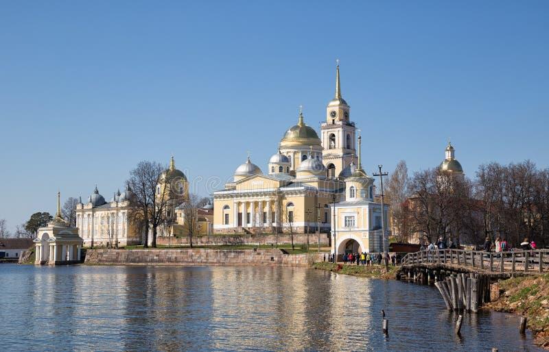 Монастырь Nilov, Россия стоковая фотография rf