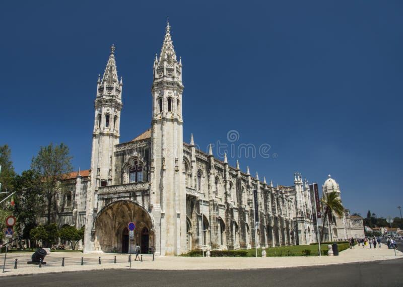 Монастырь nimos ³ Jerà в Лиссабоне, Португалии, Европе стоковое изображение