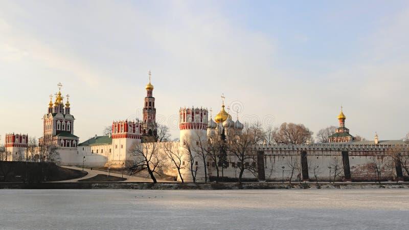 монастырь novodevichy стоковые фотографии rf