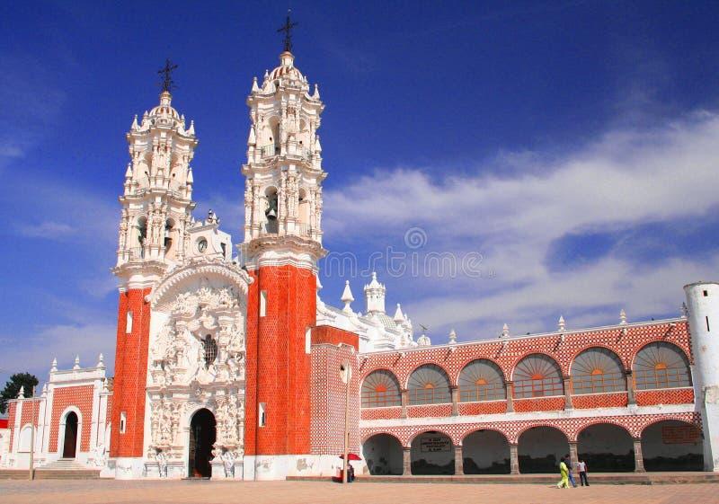 монастырь ocotlan стоковое изображение