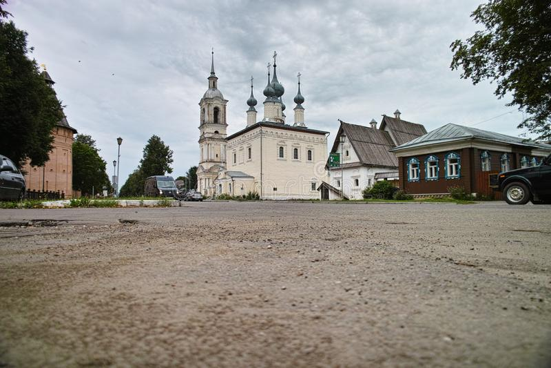 Монастырь Pokrovsky Suzdal, России стоковое изображение rf