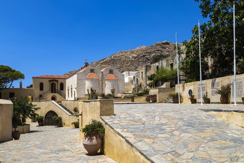 Монастырь Preveli, Крит стоковое фото
