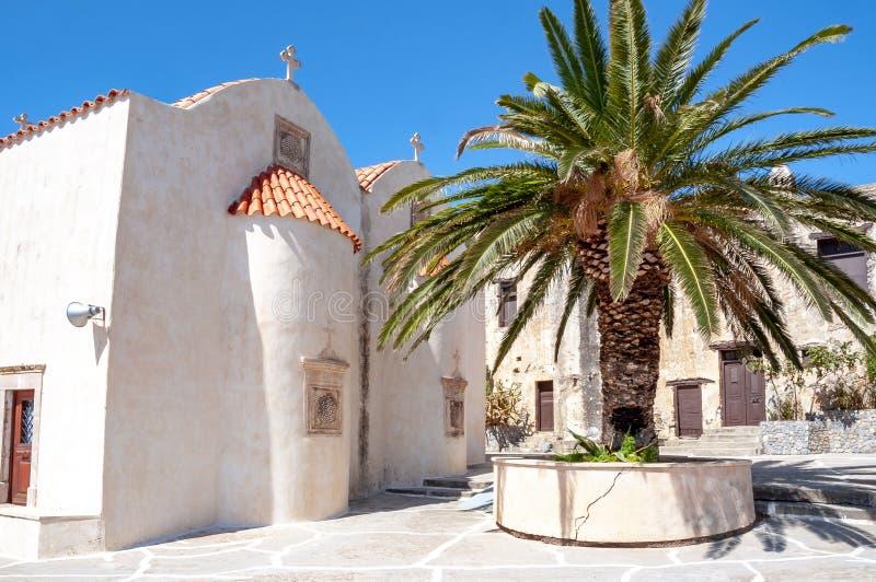 Монастырь Preveli, южный Крит, Греция стоковые изображения rf