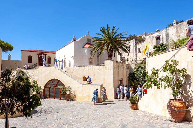 Монастырь Preveli, южный Крит, Греция стоковое фото