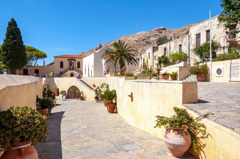 Монастырь Preveli, южный Крит, Греция стоковые изображения