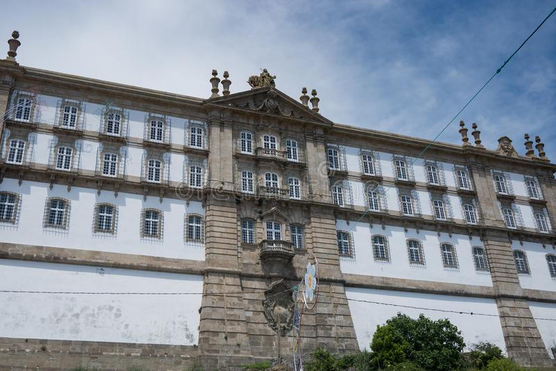Монастырь Santa Clara в Vila делает Conde, Португалию стоковое фото