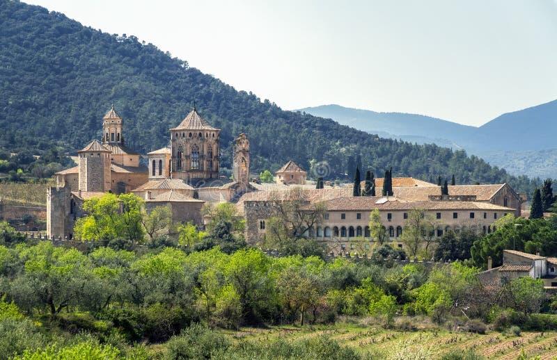 Монастырь Santa Maria de Poblet, Каталонии, Испании стоковые фото