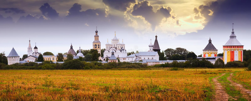 Монастырь Spaso-Prilutsky в Vologda, России стоковое фото rf