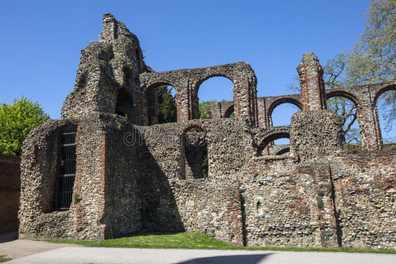 Монастырь St Botolphs в Colchester стоковые фотографии rf