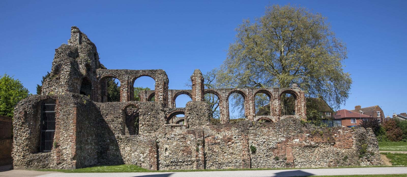 Монастырь St Botolphs в Colchester стоковое фото rf