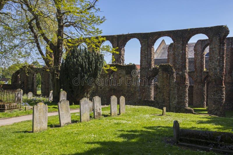 Монастырь St Botolphs в Colchester стоковая фотография