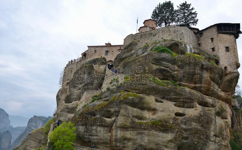 Монастырь Varlaam в центральной Греции стоковые фото