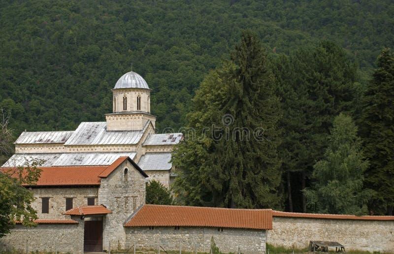 Монастырь Visoki сербский правоверный, Decani, Косово стоковые фото