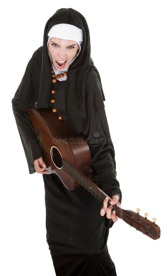 монахина гитары стоковые изображения rf
