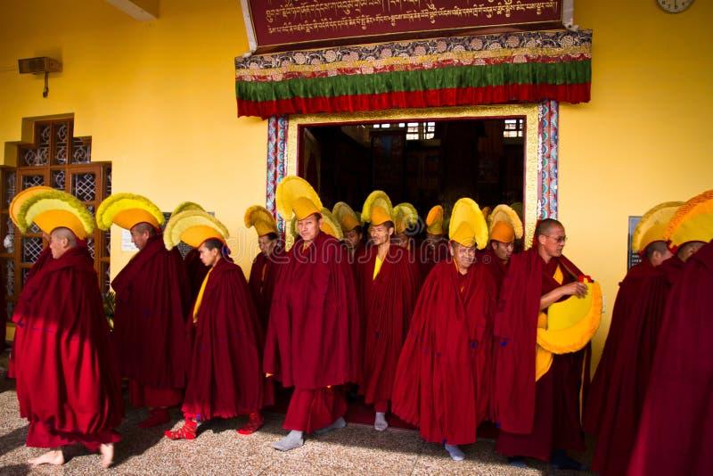 Монахи монастыря Gyuto, Dharamshala, Индии стоковое фото rf