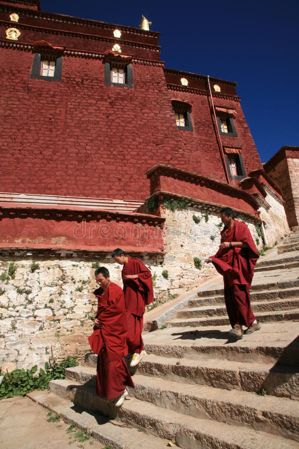 монахи Тибет стоковое фото rf