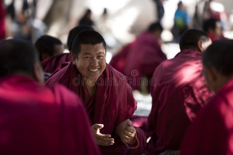 монахи Тибет lhasa стоковая фотография rf