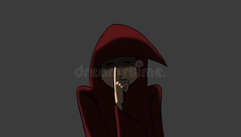 монах загадочный иллюстрация штока