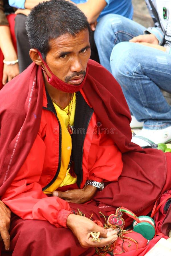 монах Непал стоковые фотографии rf