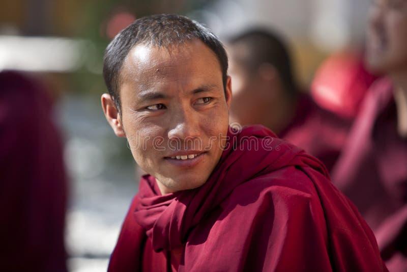монах Тибет стоковая фотография rf