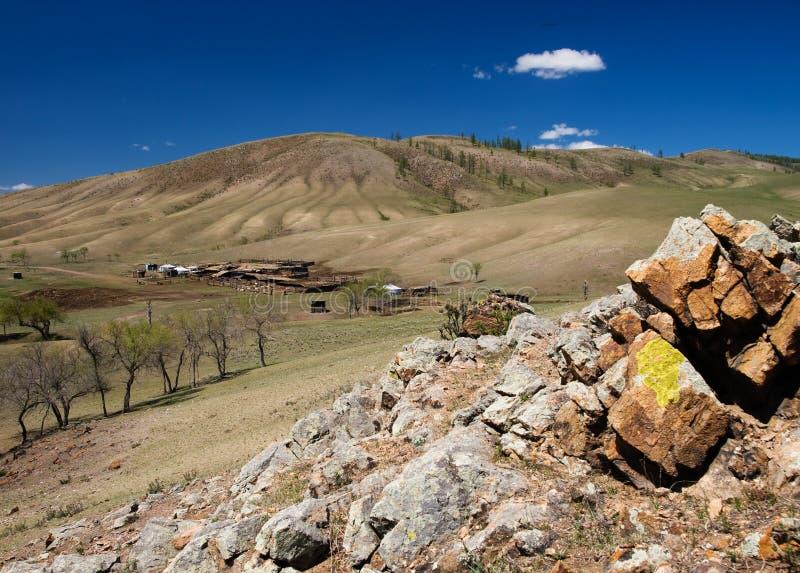 монгольский дистанционный выселок стоковые изображения