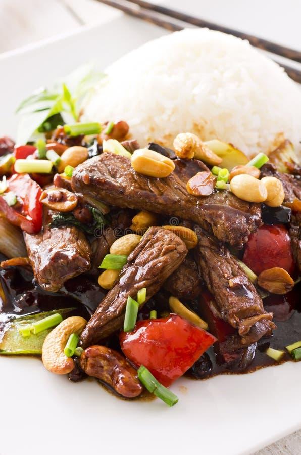 Монгольская говядина стоковая фотография