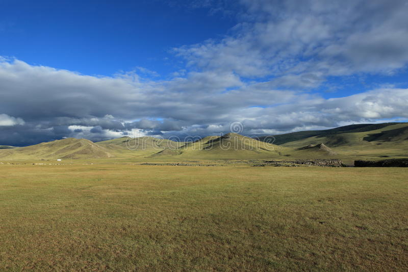 Монгольские ландшафт и природа стоковое изображение rf