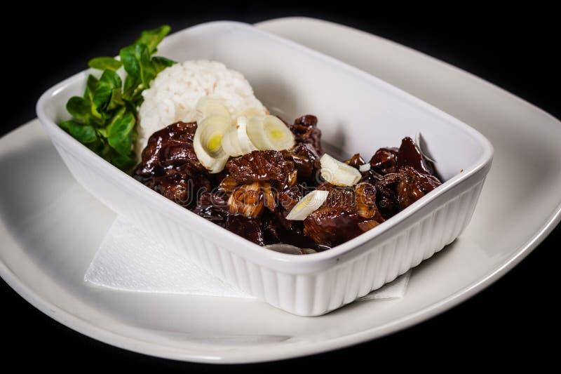 Монгольское мясо стоковая фотография rf