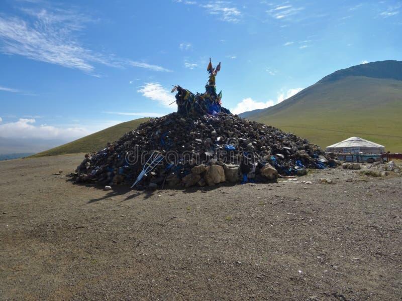 Монгольское cultur в национальном парке Gorkhi Terelj стоковые изображения