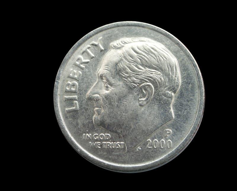 монета в 10 центов стоковое фото