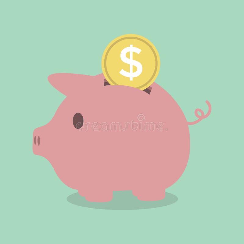 монетка банка piggy иллюстрация вектора