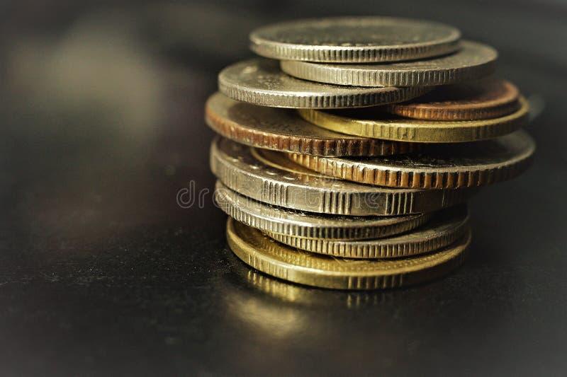 Монетка ванны тайская, деньги в Таиланде стоковые фото