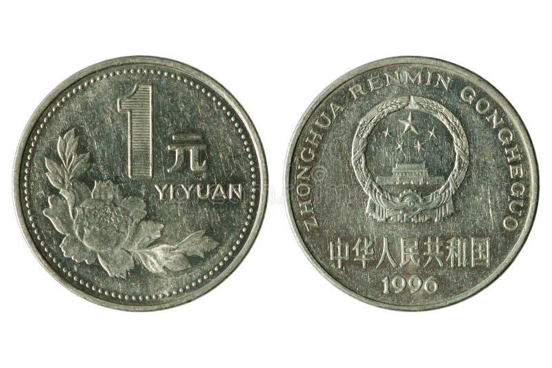 монетка одно yuan стоковые изображения rf