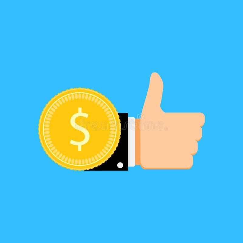 Монетка оплаты для как бесплатная иллюстрация