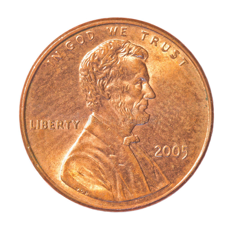 монетка одно цента стоковое изображение rf