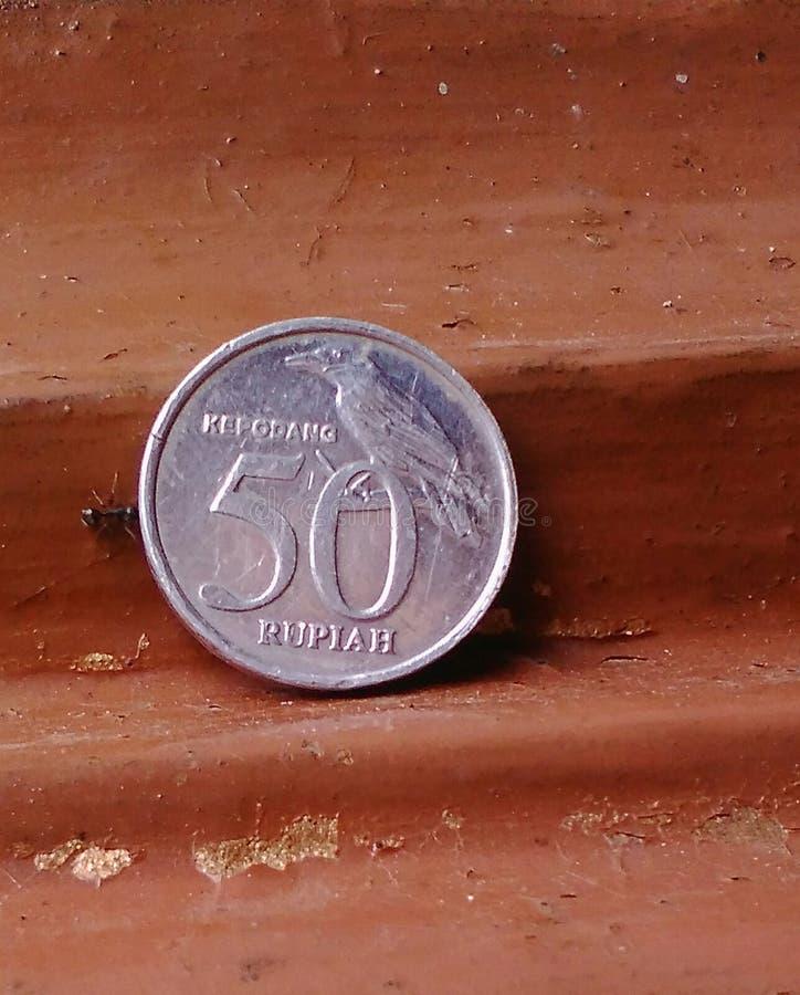 Монетка помадки муравья стоковые изображения rf