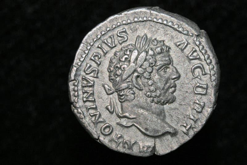 монетка римская стоковое изображение rf