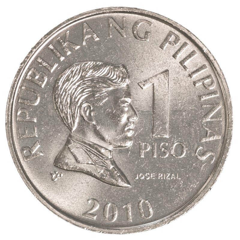 1 монетка филиппинского песо стоковое изображение rf