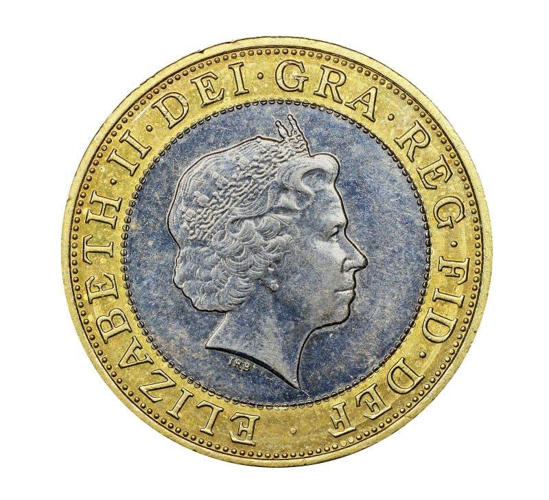 Монетка фунта British 2 стоковые фото