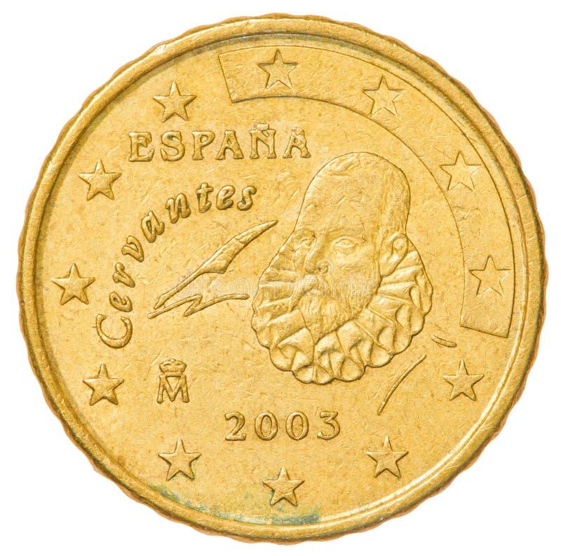 монетка 10 центов евро - Испания стоковое изображение