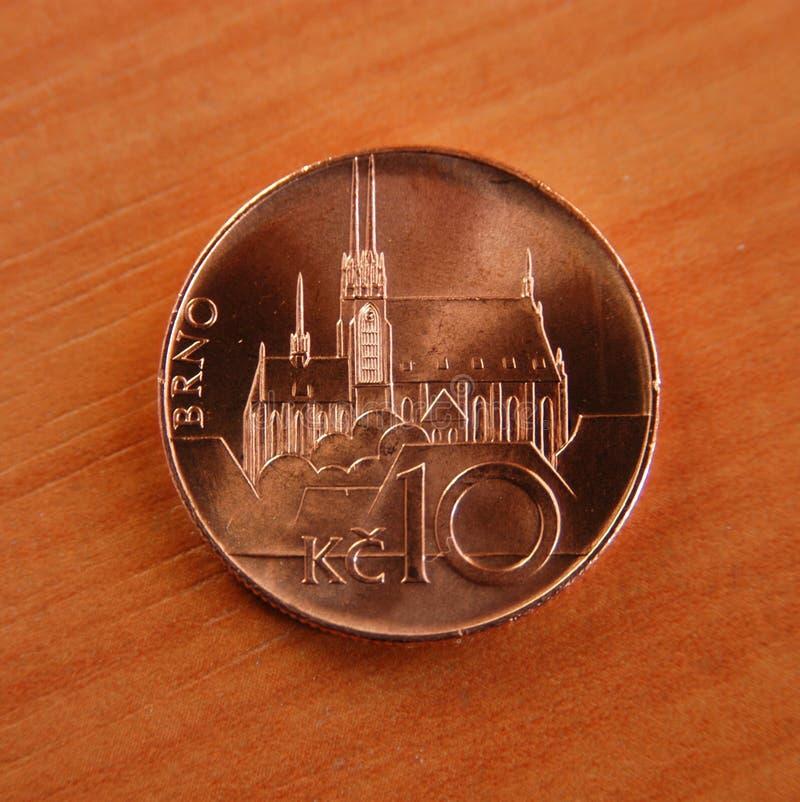 монетка чех стоковые фотографии rf