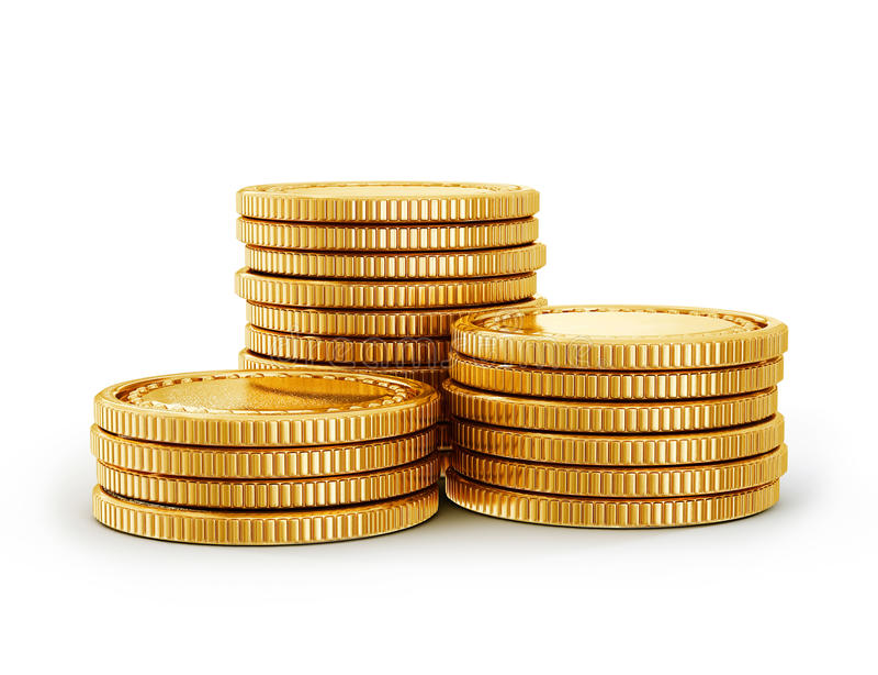 Монетка иллюстрация штока