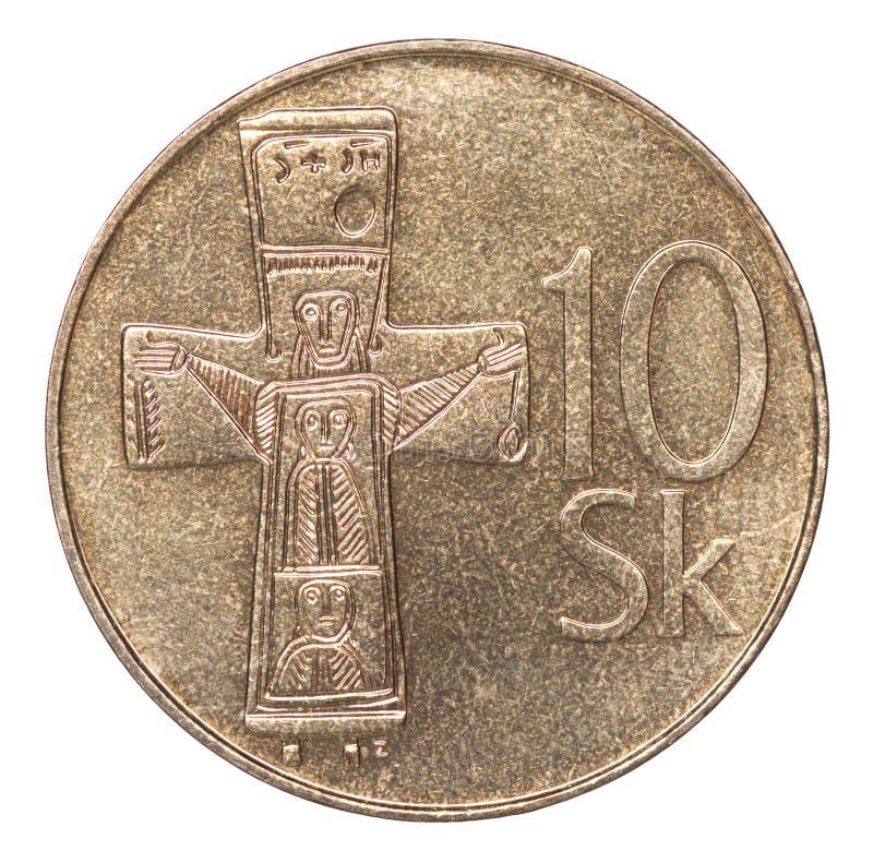Монетка koruna словака стоковые изображения rf